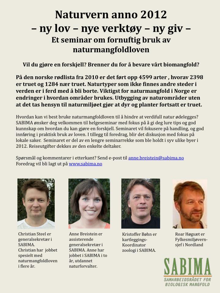 Naturvern anno 2012