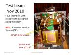 test beam nov 2010