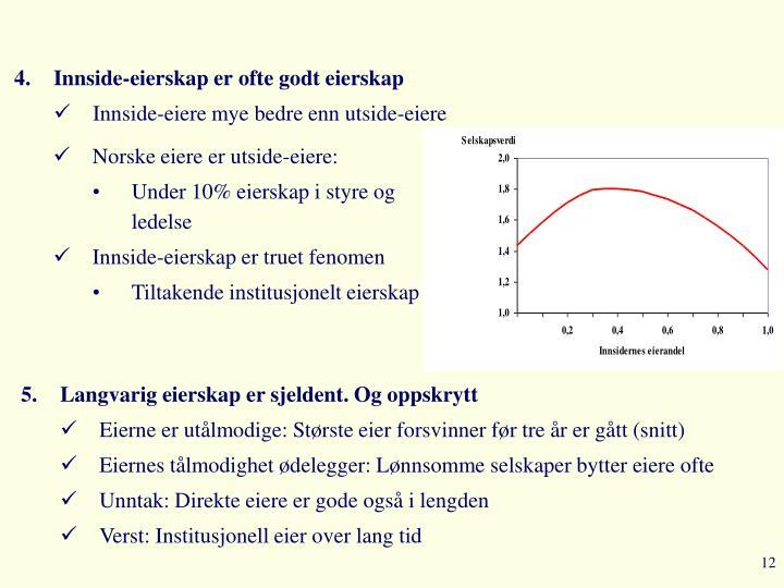 Norske eiere er utside-eiere:
