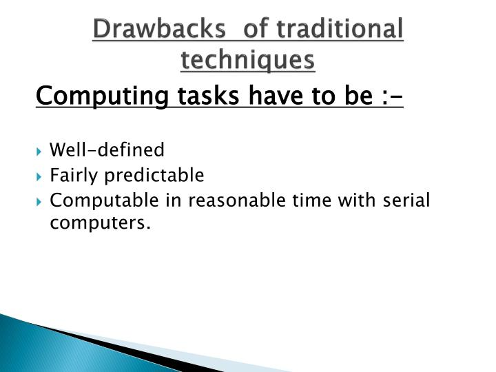 Drawbacks  of traditional techniques