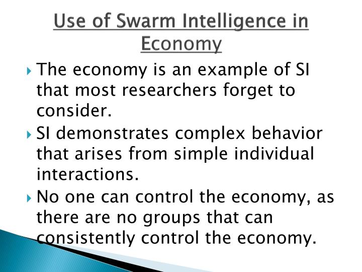 Use of Swarm Intelligence in E