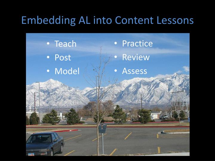 Embedding AL into Content Lessons