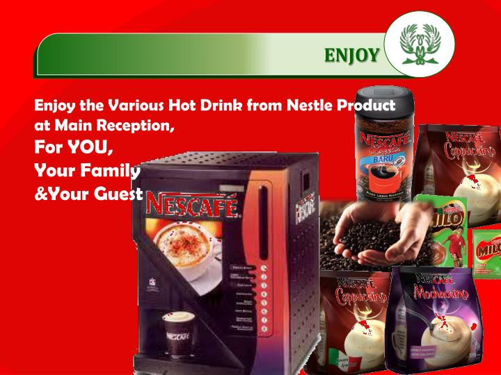 Enjoy the Various Hot Drink from Nestle Product