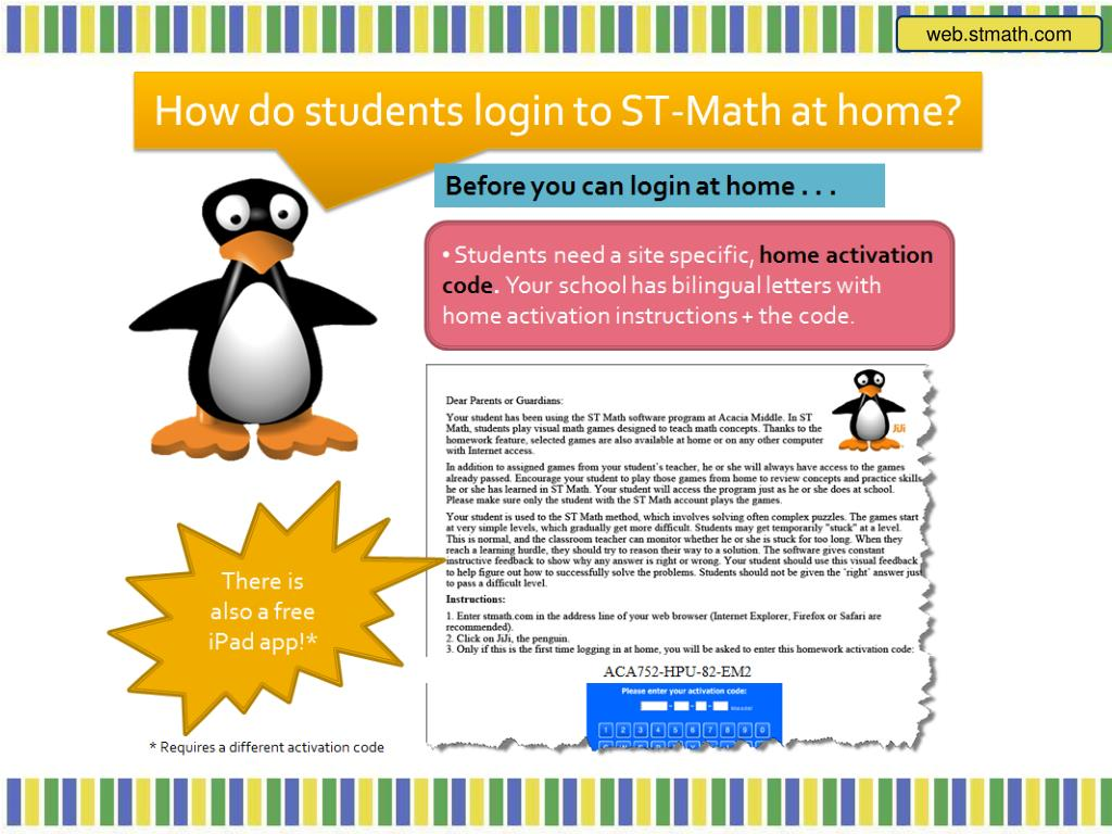 free activation code for st math
