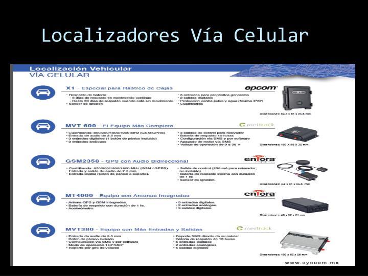 Localizadores Vía Celular