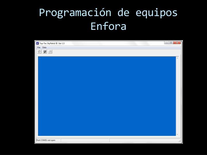 Programación de equipos Enfora