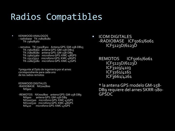 Radios Compatibles