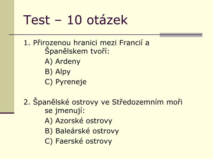 Test 10 ot zek