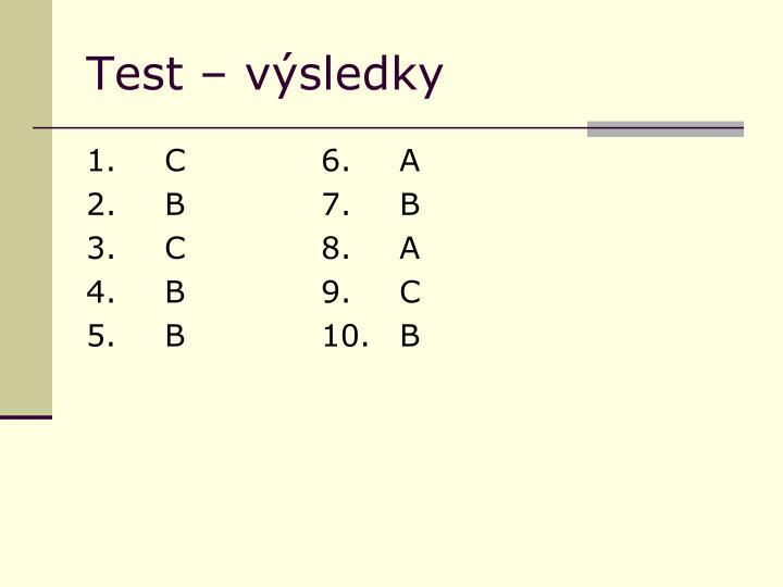 Test – výsledky