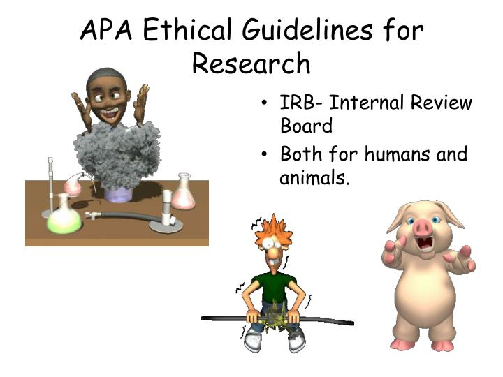 APA Ethical Guidelines for Research