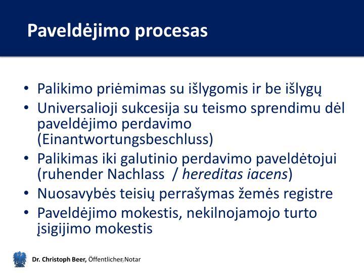 Paveldėjimo procesas