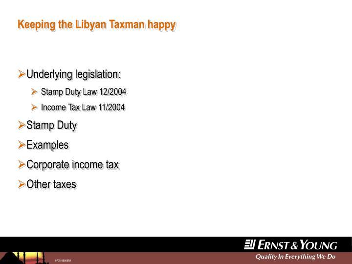 Keeping the libyan taxman happy1