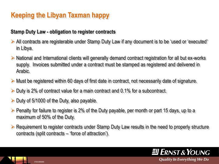 Keeping the libyan taxman happy2