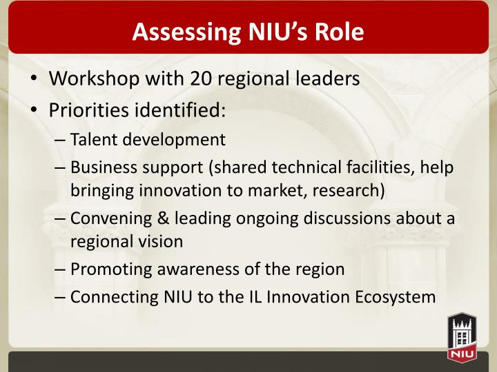 Assessing NIU's Role