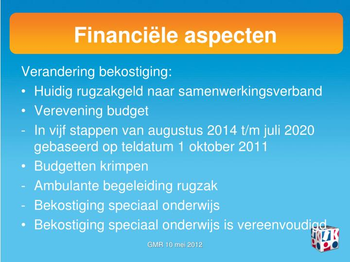 Financiële aspecten