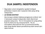 dua sampel independen