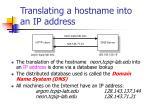 translating a hostname into an ip address