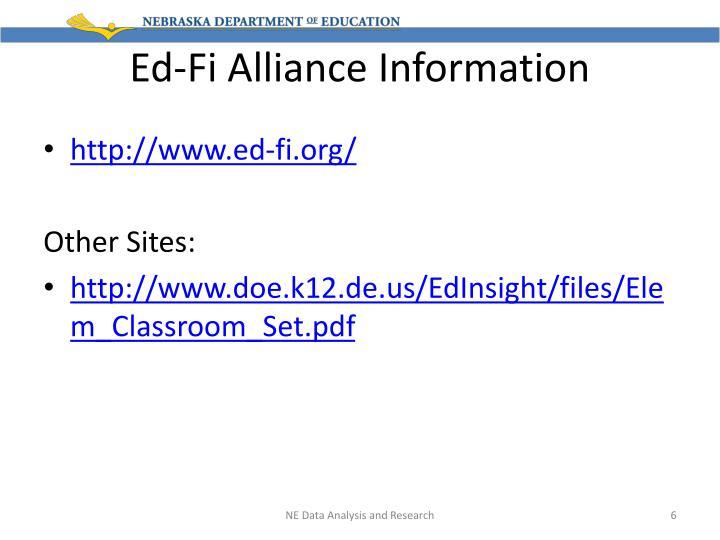 Ed-Fi Alliance Information