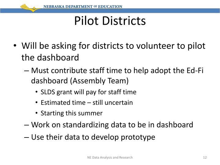 Pilot Districts