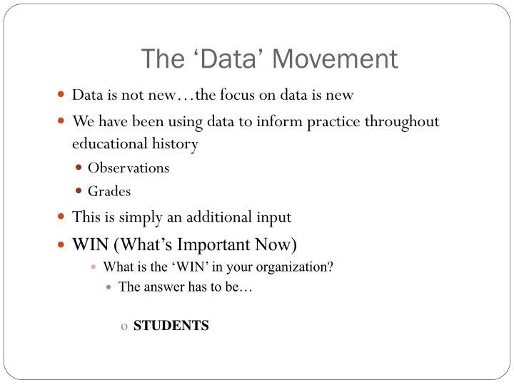 The 'Data' Movement