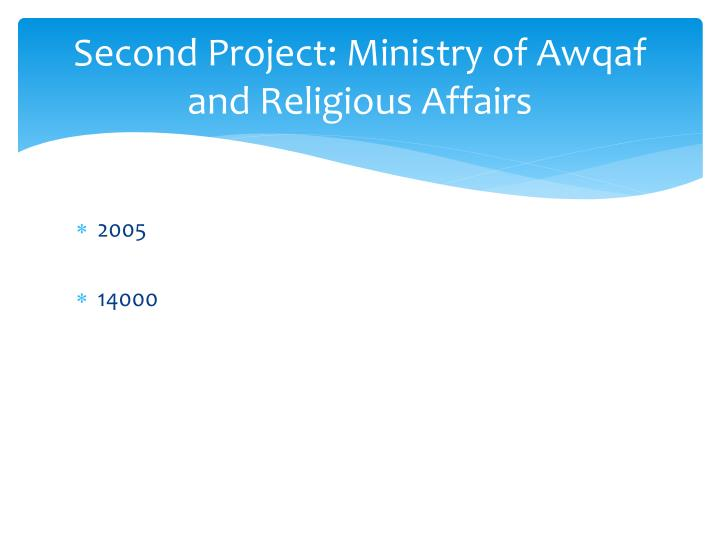 Second Project: Ministry of