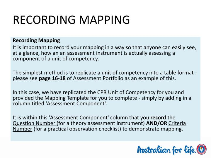 RECORDING MAPPING
