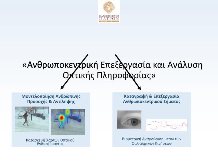 «Ανθρωποκεντρική Επεξεργασία και Ανάλυση Οπτικής Πλ...