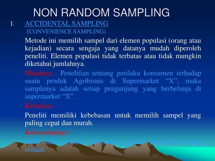 NON RANDOM SAMPLING