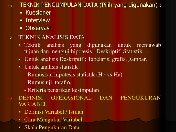 TEKNIK PENGUMPULAN DATA (