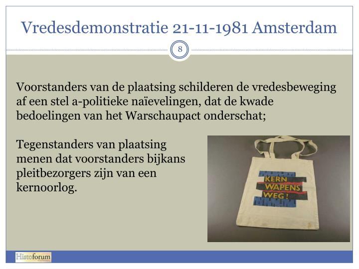 Vredesdemonstratie 21-11-1981 Amsterdam