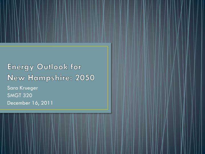 energy outlook for new hampshire 2050 n.