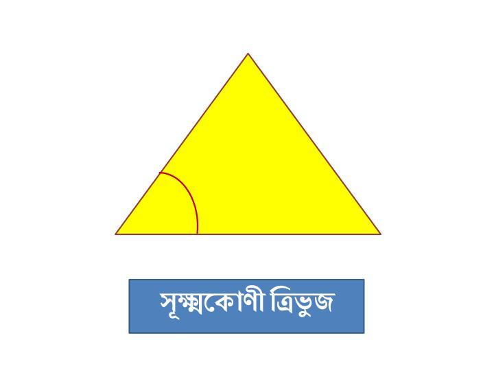 Image result for সূক্ষ্মকোণী ত্রিভুজ