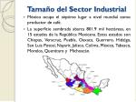 tama o del sector industrial