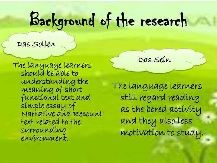 what is the meaning of background of the study