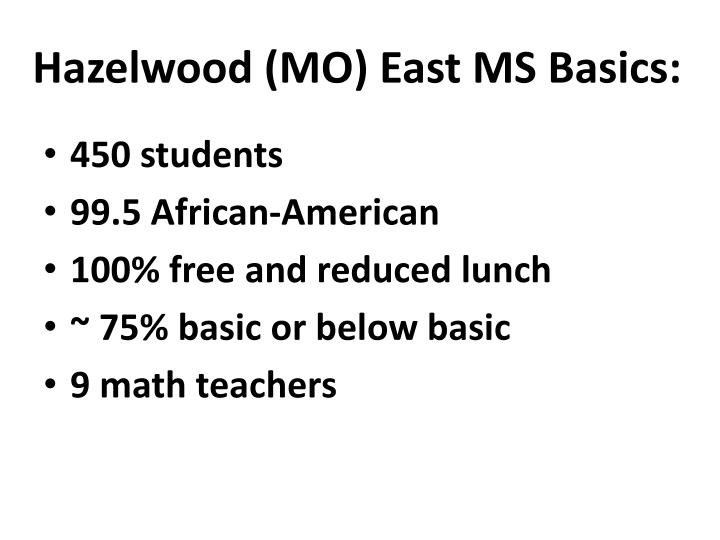 Hazelwood (MO) East MS Basics: