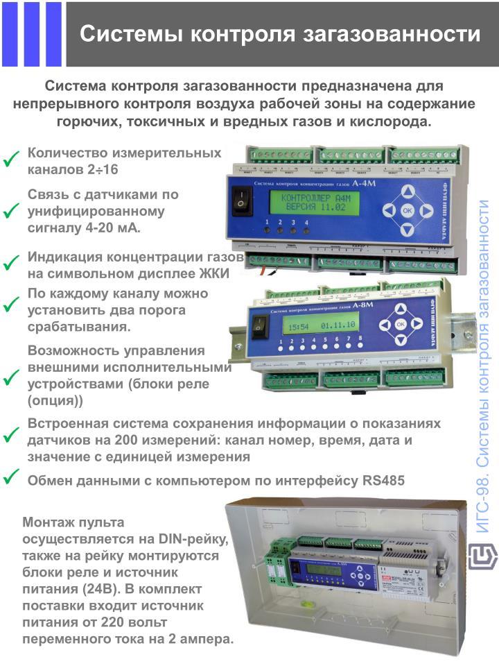 система контроля загазованности проверка