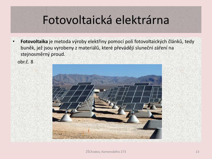 Fotovoltaická