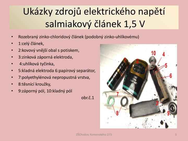 Ukázky zdrojů elektrického napětí