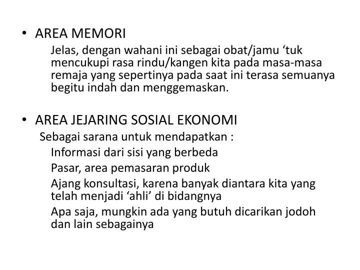 AREA MEMORI