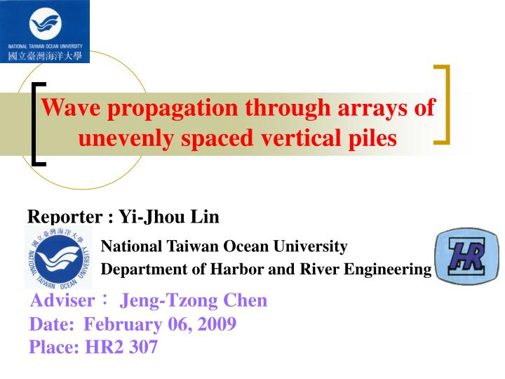Wave propagation through arrays of unevenly spaced vertical piles
