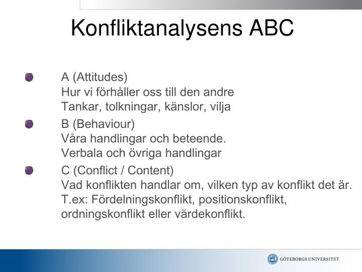 Konfliktanalysens ABC