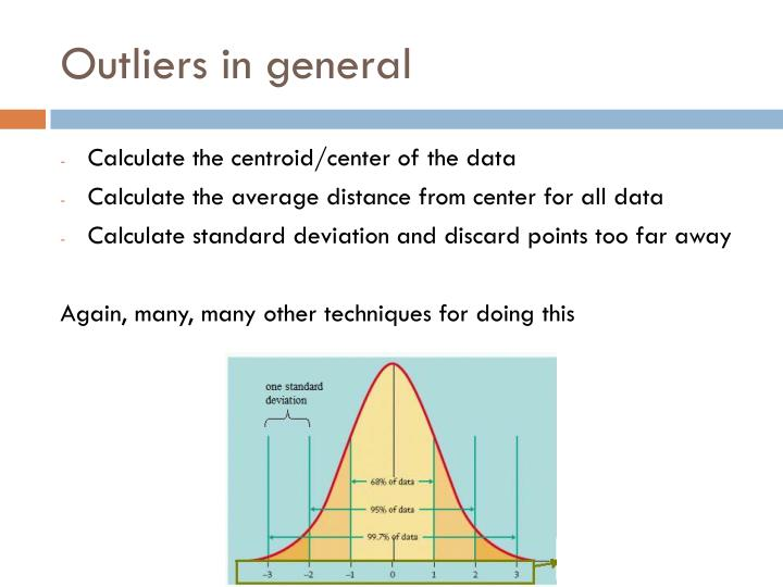 Outliers in general