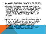 balancing chemical equations continues