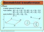 geometrick transformace