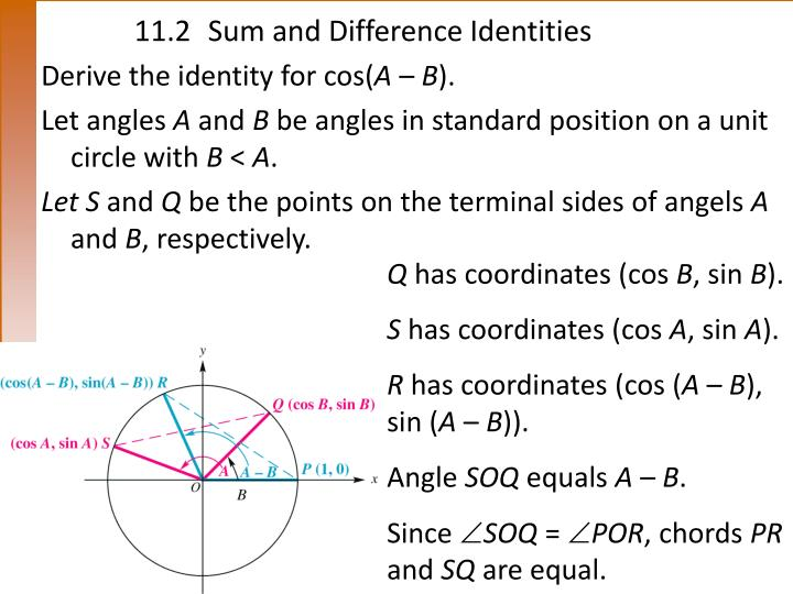 11 2 sum and difference identities