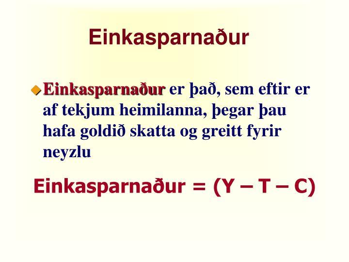Einkasparnaður