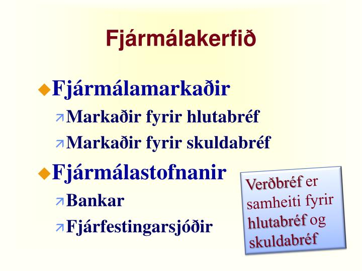 Fjármálakerfið