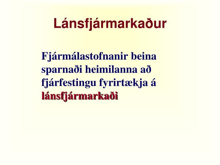 Lánsfjármarkaður