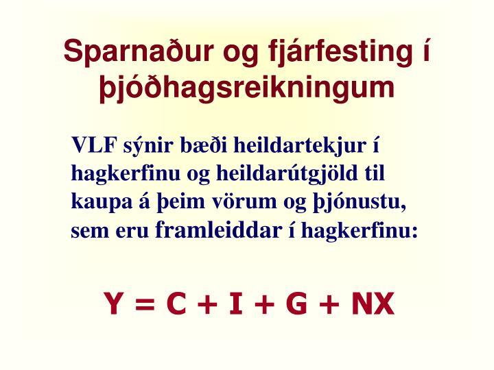 Sparnaður og fjárfesting í þjóðhagsreikningum