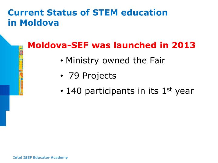 Moldova-SEF was launched in 2013